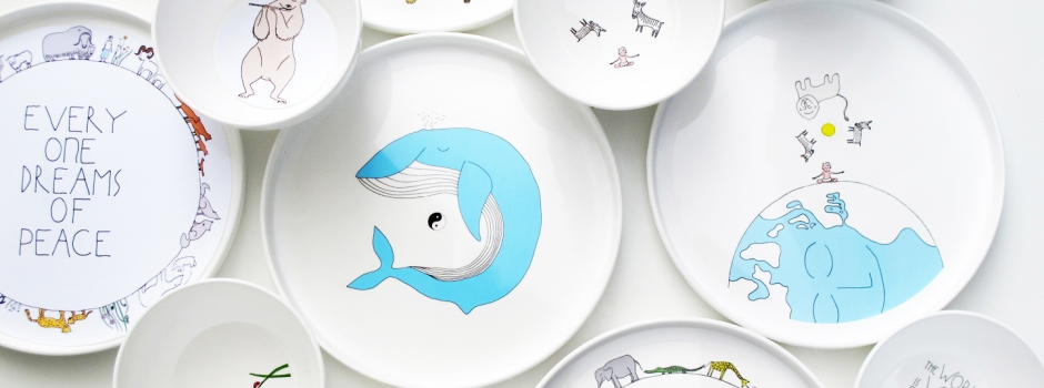 sc 1 st  Smiling Planet & childrenu0027s tableware | smiling planet